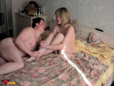 Домашнее любительское видео Русской пары