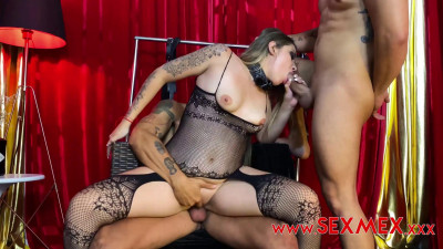 Sara Blonde – Threesome With Fans (2020)