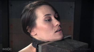 Description Brutal Breast Bondage in a Wire Frame Cage