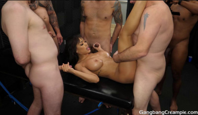 Pretty Gia Milana Gangbanged With Many Loads