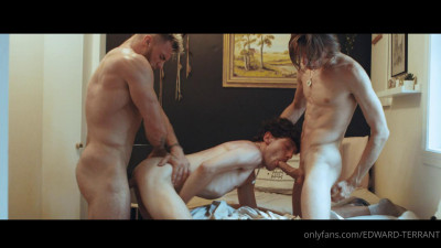 Edward Terrant fucked by Leo Louis and William Seed