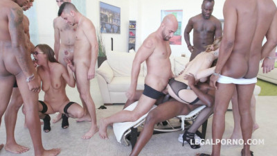 Interracial Gangbang Festival For Sexy Belle Clair and Tina Kay