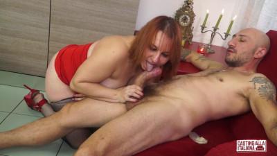 Mature Italian redhead newbie Kiara Rizzi gets ass fucked by Omar Galanti