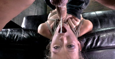 Lanky Model Hailey Young Rag Doll Fucked All Over A Couch While Tightly Bound, Punished Hard