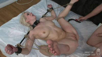 Tight bondage, spanking and torture for horny blonde part 2 HD 1080p