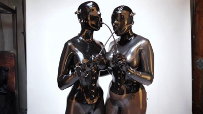 Super bondage and domination for two beautiful bitches in latex