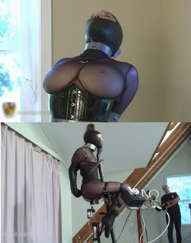 Tight bondage, torture for hot slut and machines torture
