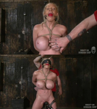 Super bondage, spanking and torture for hot blonde part3