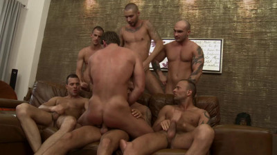 Toby Dutch Gets Fucked In A Seven Man Bareback Gang Bang HD