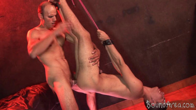 BoundArea - Studly Dom Dicks His Prey in Suspension and Hogtie