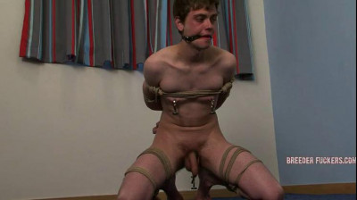 Aiden – Tied up, made to display his arsehole