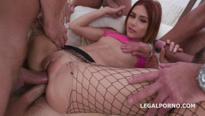 Description Pretty Gabriella Ross In Double Anal Orgy With 4 Guys