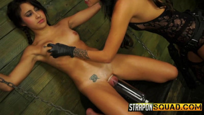 StraponSquad Marina Angel Loves Lesbian Domination and  Sybian with Esmi Lee