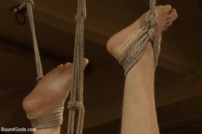 Description 18 year old slave boy endures the most intense ball stretching on BG.