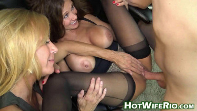 Horny milfs sharing cock