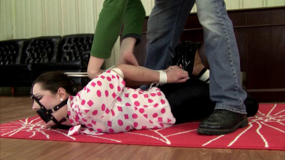 Belle Davis - Hogtied, Frogtie, and Ballgagged