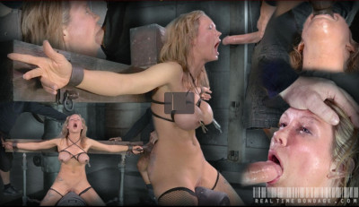Rain DeGrey cums repeatedly while facefucked, brutal deepthroat!