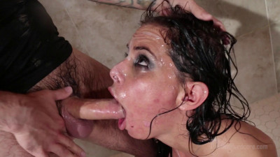 Brandy Aniston face fucked in the shower