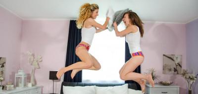 Emylia Argan & Shona River – Pillow fight before lesbian sex