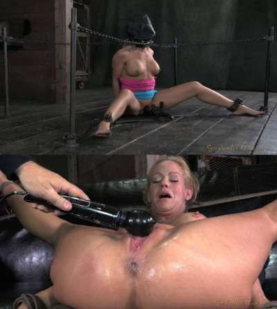 Tight bondage, torture and domination for hot naked blonde