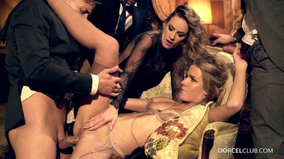 Claire Castel & Alexis Crystal – Orgy At The Castel