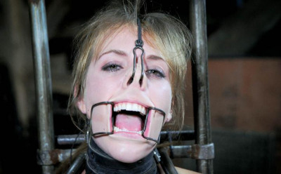 Cool medical gag in her mouth
