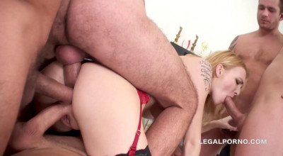 Best Triple Anal Gangbang For Sexy Belle Claire