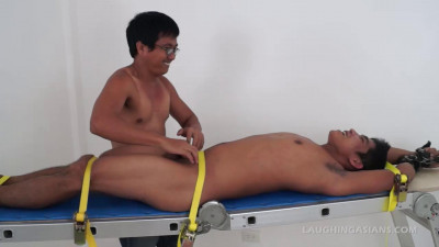 Gay BDSM Jesse On The Tickling Rack