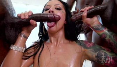 Beauty Katrina Jade Destroyed By Huge Black Cocks