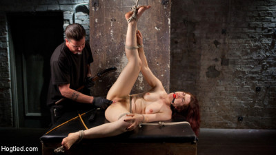 Sexy Pain Slut in Extreme Bondage, Tormented, Punished, and Made to Cum Against Her Will