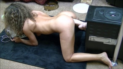 I get on all fours and back into this monster for a hot fuck session