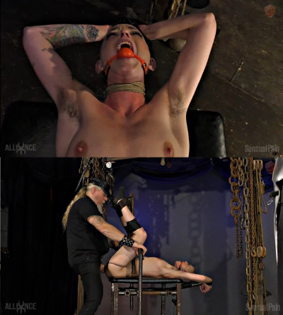Tight bondage, torture and domination for naked sexy slut
