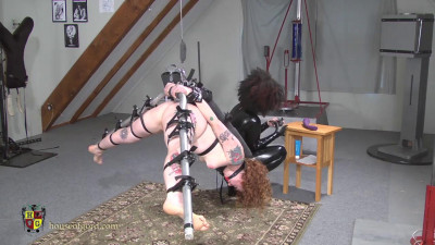 Naked Redhead Chandelier Suspension