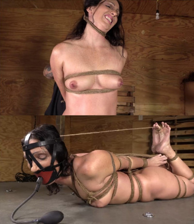 Super Bondage And Hogtie For Hot Girl With Naked Boobs