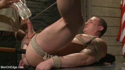 Straight Soldier Edged by His Commanding Officers