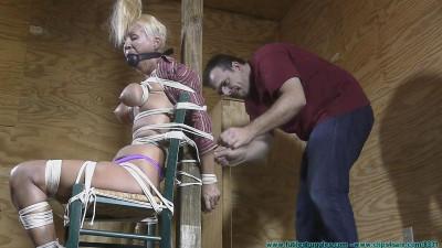 Futile Struggles - Amanda Foxx Manhandled and Chairtied - Part 2
