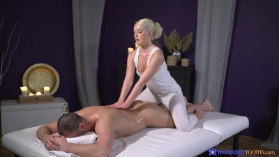 Description Lovita Fate - Oiled firm young blonde masseuse