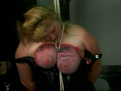 Passionate girl in hard BDSM