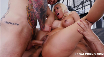 Latina Babe Destroyed By Big Dicks With DP