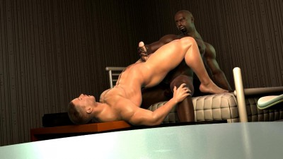 Gay Ebony Cock Dives Deep