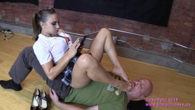 School Girl Sits