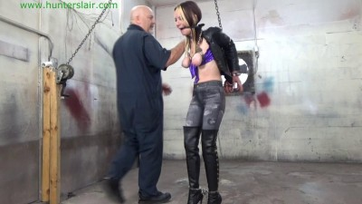 HunterSlair — Lexi Lane — Booted bimbo helplessly locked in tight steel cuffs