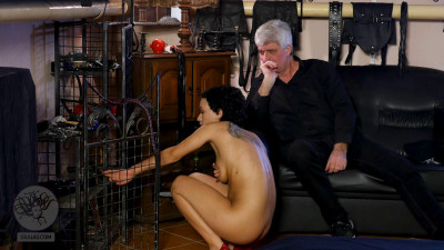 Slim slave Stacy is afraid of punishment so much