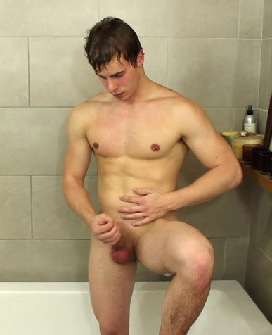A Young Stud with Suds in a Tub!