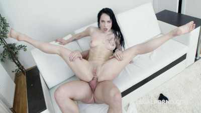 Mr. Anderson's anal casting with Juicy Leila first time