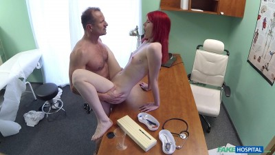 Description Anne Swix - Cute Redhead Rides Doctor for Cash - May 20, 2016