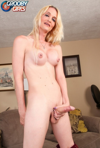 Brooke Zanell Strokes Her Hard Cock