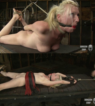 Bondage, hogtie and torture for sexy beautiful blonde part 2
