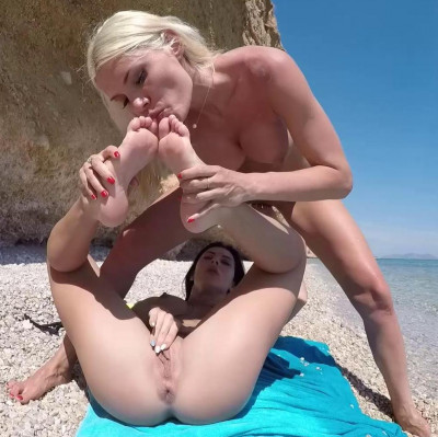 Description Kitana Lure And Inna Innaki - Lesbian Foot Fucking Under The Sun FullHD 1080p