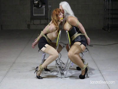 Tightly Tied Sex Slaves Made to Kiss While receiving Intense Bondage Orgasms!